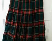 plaid pleated skirt tartan grunge boho 80s ski skirt snow skater