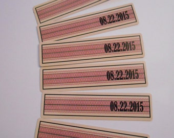 GROOMS LABELS  - Date Strips - Wine Bottle Date Band - Seal Only - Liquor Bottle Date Band -  Wedding Date Seal
