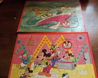 jaymar specialty co mickey mouse club puzzles x2