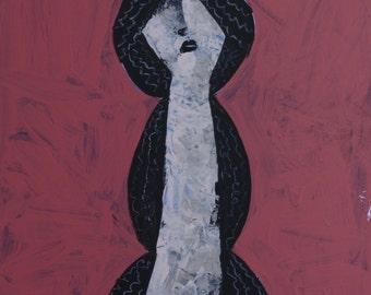 ANIMUS No. 100 ~ Original Acrylic Knife Painting on Panel