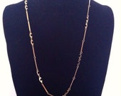 Vintage C initial gold chain necklace