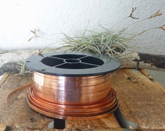 "Copper Bezel Wire 10 Feet x 1/8"", 28 Gauge Flat Wire, Free Shipping"