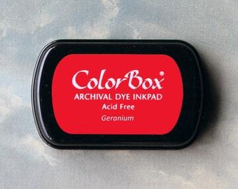 Red Stamp Pad (Geranium) // Archival ink // ColorBox