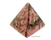 Rhodonite Pyramid, Metaphysical, Artisan, Crafts, Egyptian, Crystal Healing, Arts & Crafts