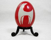 Red Reindeer Christmas Design on Duck Egg - A04D