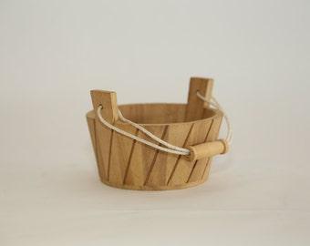 Mini Wooden Bucket