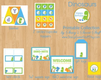 Dinosaur Birthday Printable Party Package, DIY