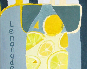 Art Print Giclee , Kitchen, Lemonade.  FREE DOMESTIC SHIPPING.