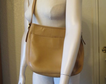vintage Coach Butterscotch Leather Tote with Cross Body or Shoulder Strap