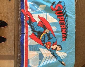 Vintage Superman STANDARD PILLOWCASE - Reclaimed Bed Linens