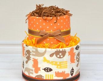 Safari Diaper Cake, Safari Baby Shower, Baby Boy Gift, Boy Baby Shower, Diaper Cake, New Baby Gift, Aminals, Baby Shower Gift Ideas