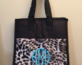 Monogrammed Insulated Animal Print Lunch Bag Cooler Personalized