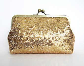 Gold Rush Sequin Clutch,Wedding Accessories,Bridal Accessories,clutch purse,Wedding Clutch,Bridesmaid Clutch, Bridal Purse