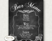 Bar menu - Chalkboard with Frame