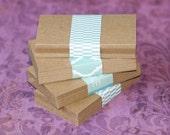 "100 Kraft Business Card Blanks ... Super Lightweight Cardstock 65# Biz Cards Seller Supplies 2"" x 3.5"" Cards DIY Business Cards Destash"