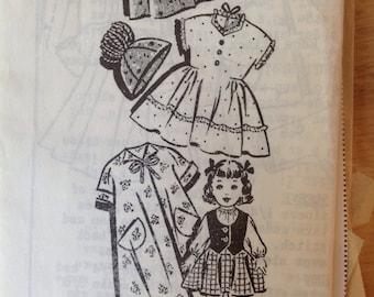"Vintage Sew-Rite mail order 22"" doll wardrobe pattern"