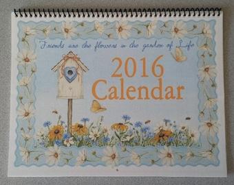 2017 Calendar ~ Friends are the flowers