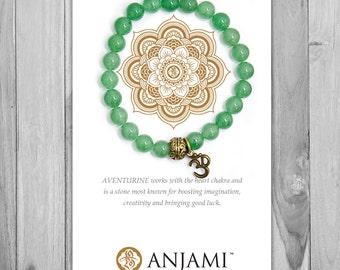 AVENTURINE,Mala Bracelet,Beaded Bracelet,Gemstone Bracelet,Yoga Jewelry,Inspirational Jewelry,Healing Jewelry, Gift for Her
