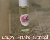 LOOPY FRUITS Cereal PERFUME Oil Roll On - 7ml Glass Roll On Bottle,  Paraban and Phthalate Free, Vegan Perfume