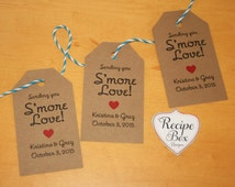 Smore Love Tags Wedding Favor Tags, Smore Label, Smore favor (200 Tags Only), Smore Labels, Smore favors, Smore tags. Rustic Wedding, favors