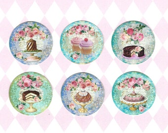 Stickers, French Bakery, Cakes & Cupcake, Bakery Stickers, French Style