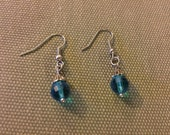 Handmade Blue Dangle Earrings