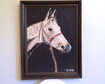 Vintage 1969 Denny Bond Horse Oil Painting