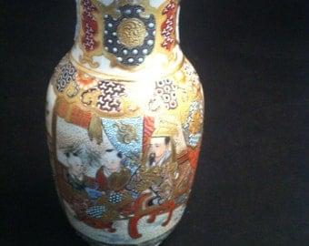 Satsuma Japanese Vases, Meiji Satsuma Vase, Japanese Satsuma Vase, Satsuma,  Temple Satsuma