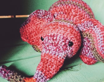 Crocheted Elephant Doll- Made to Order