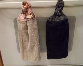 Towel with Crocheted Topper for Men