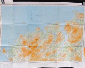 1969 Vintage Map Letterkenny, Ireland, Ordnance Survey Sheet 1