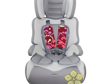 Infant Car Seat Strap Covers { Amy Butler Love Collection } Paradise Garden in Wine