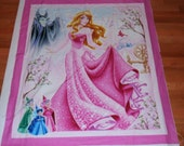 Sleeping Beauty Panel Cheater Quilt Wall Hanging Princess Nap Mat Play Mat Party Decor Nursery Playroom Fairy Tale Disney Story