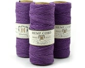 Purple Hemp Cord, 205 Feet,  Beading Cord,  Hemp Jewelry  Cord, Purple Hemp Twine  -T30