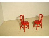 Metal Red Chairs/Set of 2/ Miniatures/Craft Supplies*