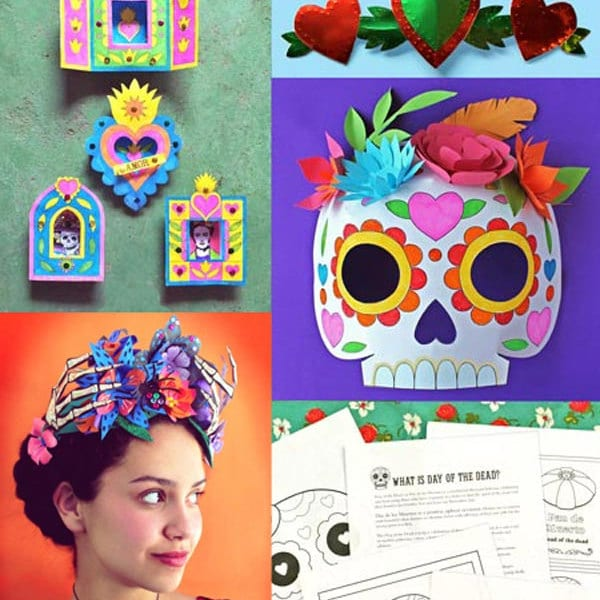 Beautifully designed decorations for holidays by for Day of the dead craft supplies