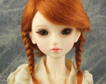 "Fatiao - New Dollfie SD 1/3 BJD size 8-9"" Dolls Mohair Wig - Carrot"
