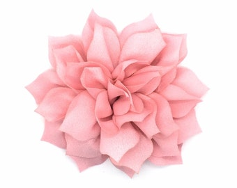From The Garden Snap-In Dog Bow® Collar Attachment - Light Pink, Therapy Dog Flower, Dog Collar Flower, Dog Accessory, Wedding Dog Flower