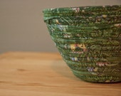 Cloth Coil Bowl in Shades of Green