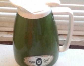 Vintage Green West Bend Thermo Serv Pitcher