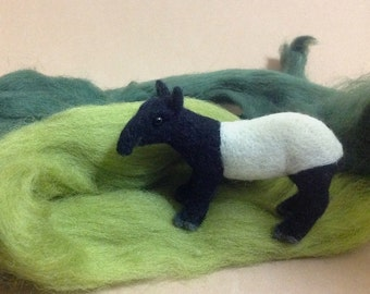 Small needle felted Tapir