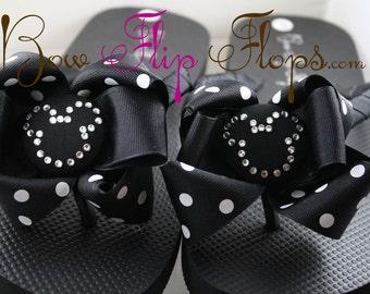 Your Custom Color Disney Flip Flops. Gift for Vacation Disney Cruise. Girls/ Moms/ Ladies. Many colors. Bling Rhinestone Swarovski Crystal