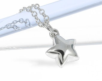 Silver Medium Star Necklace | Solid Sterling Silver | Handmade in London