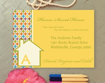 New Home Announcement | Home, Sweet Home Moving Announcement | New Address Announcement | We've Moved | House Warming Party Invitation
