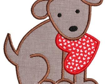 834 Valentine Dog 3 Machine Embroidery Applique Design