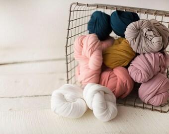 Stretch Knit Wrap - Newborn Knit Wrap - SNUG jersey Wrap -  Newborn Prop - Off White TUSK baby wrap - Knit wrappers