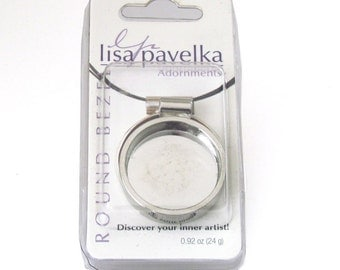 Round Silver Bezel by Lisa Pavelka - Adornments for DIY Jewelry Making - Jewelry Supply - Polymer Clay Jewelry Supply