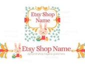 Etsy Shop Banners - Etsy Banners - Easter Etsy Banners - Bunny Etsy Banner - Easter 5-16 - 2 Piece Set