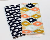 BagEnvy Handbags'  Burp Cloths -  Set Of 2  - Navy Tomahawk and Aztec Agave or Custom Design Your Own