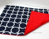 Navy Linked Nautical Circles and Red Changing Pad - Or Custom To Match Your Bag